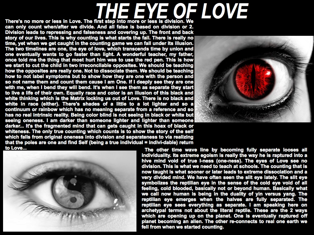 The eye of love